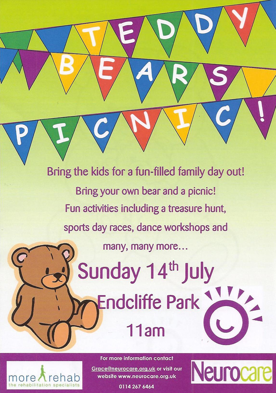 Teddy Bears Picnic 14th July 11 00am More Rehab